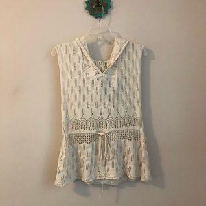 Anthropologie • Moth crochet hooded sweater